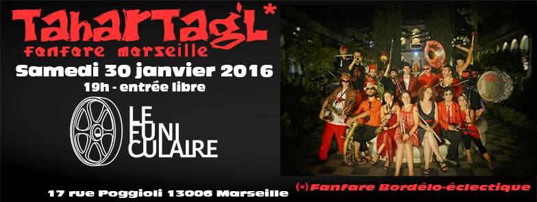 Concert gratuit, apéro en fanfare au funiculaire le samedi 30 janvier 2016