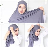 jilbab instan langkah 2