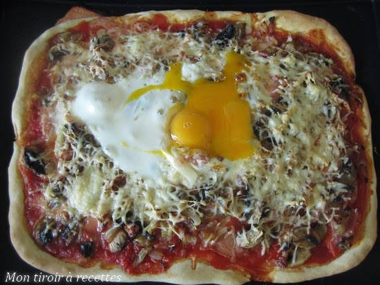 cuisson oeuf pizza