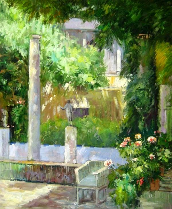 El jard n de sorolla en su casa madrile a guia de jardin for Cuadros para el jardin