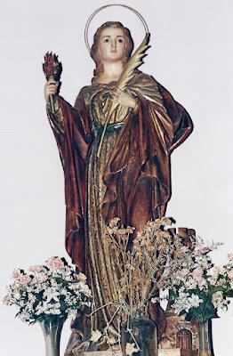 Santa Bárbara de la Iglesia parroquial de Ablaña de Arriba