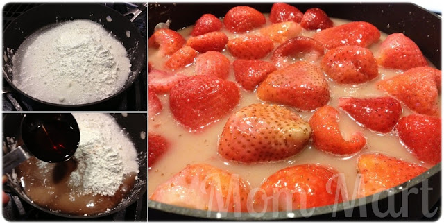 Stove Top Strawberry Sauce for Strawberry Shortcake