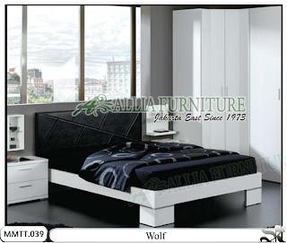 Tempat tidur minimalis modern model wolf