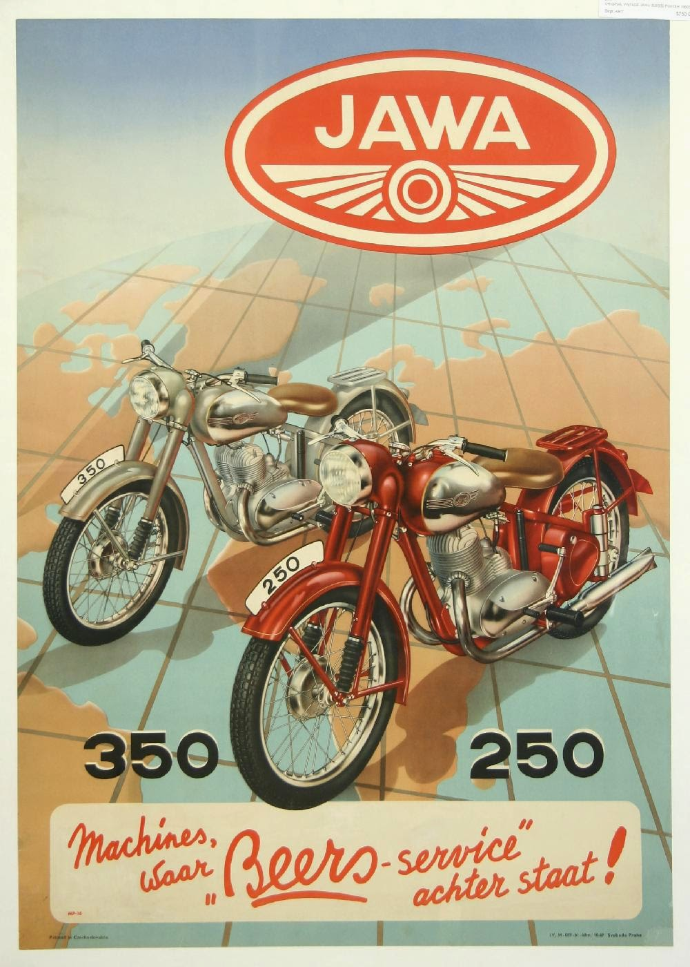 Plakat reklamowy Jawa 250, 350 (niemiecki)
