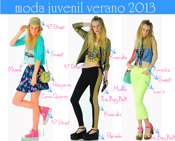 Moda juvenil verano 2013.