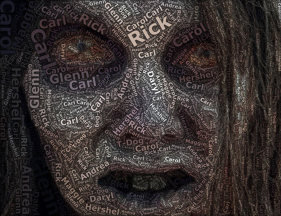 """The Walking Dead"" Names mosaic by Paul Van Scott"