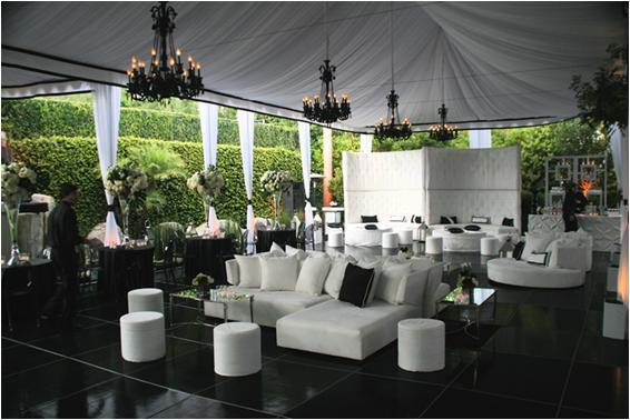 the black and white accent pieces give it a real modern and dreamy look