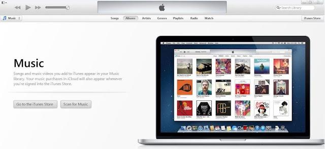 Tampilan iTunes 11 Keseluruhan