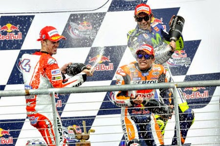 podium Marc Marquez juara