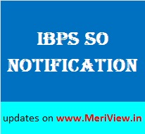 IBPS SO Notification 2015-16