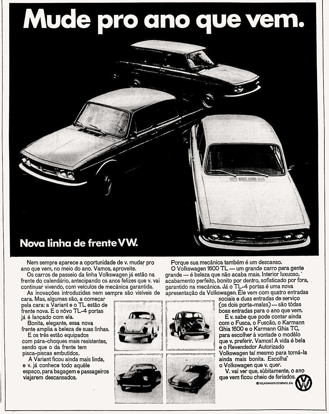 Volks anos 70; 1971; brazilian advertising cars in the 70s; os anos 70; história da década de 70; Brazil in the 70s; propaganda carros anos 70; Oswaldo Hernandez;