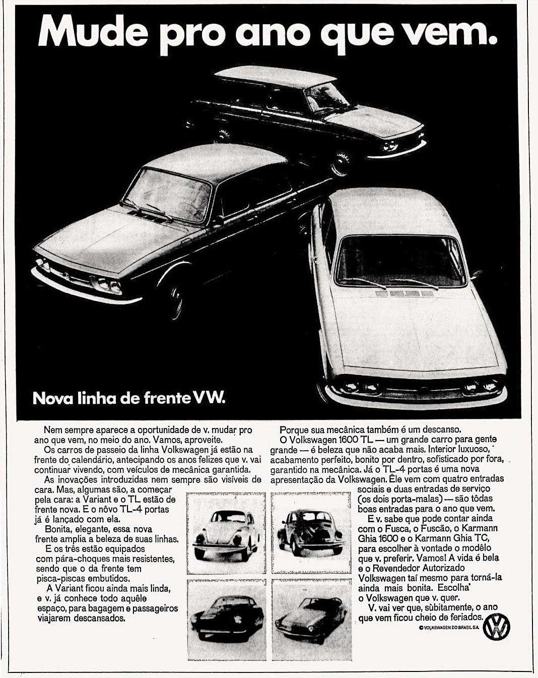Volks anos 70; 1971; brazilian advertising cars in the 70s; os anos 70; história da década de 70; Brazil in the 70s; propaganda carros anos 70; Oswaldo Hernandez;