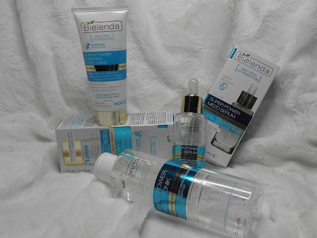Bielenda skin clinic professional - niebieska seria nawilżająca   pomocna w walce z suchą cerą