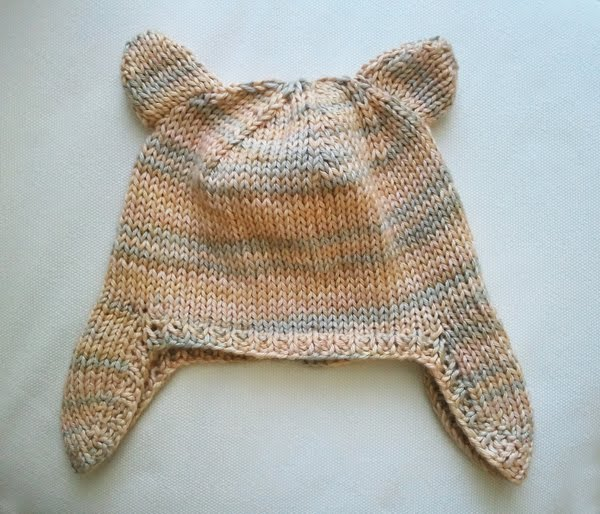 Knitting Pattern For Infant Hat With Ear Flaps : LuluKnits: Baby Ear flap Hat with Ears