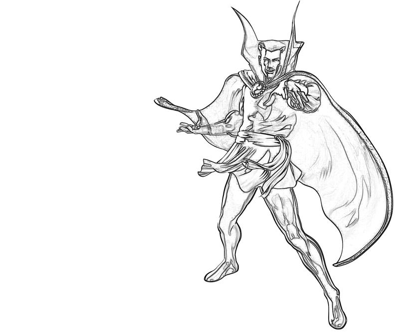 Doctor Strange Character Coloring Pages