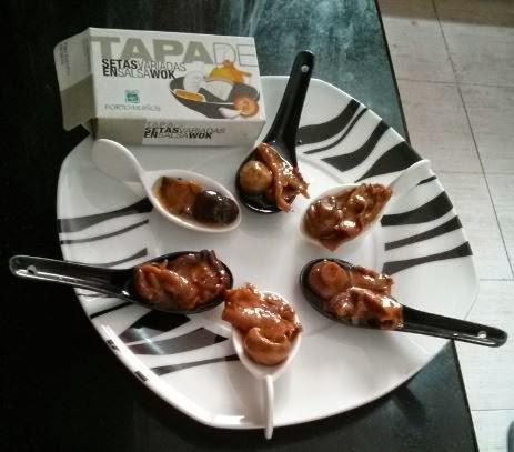 setas en salsa wok portomuiños