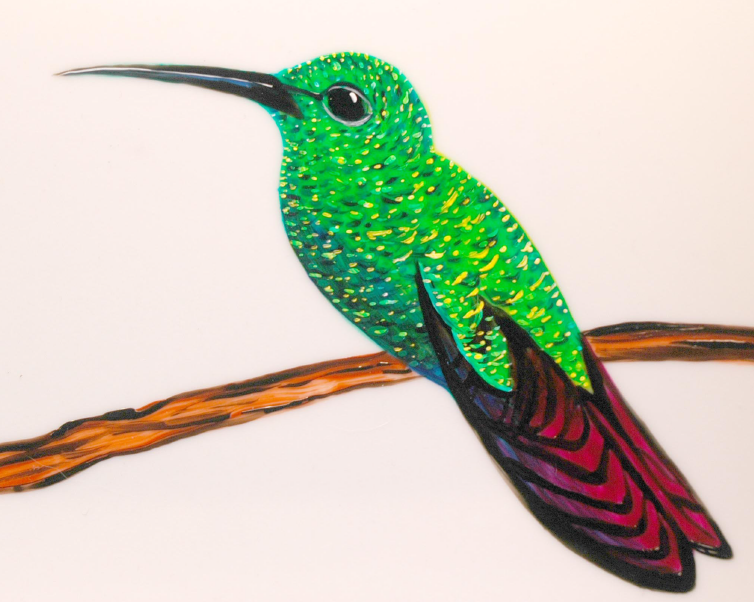Mary Elizabeth Arts: How to Paint a Hummingbird in 12 steps
