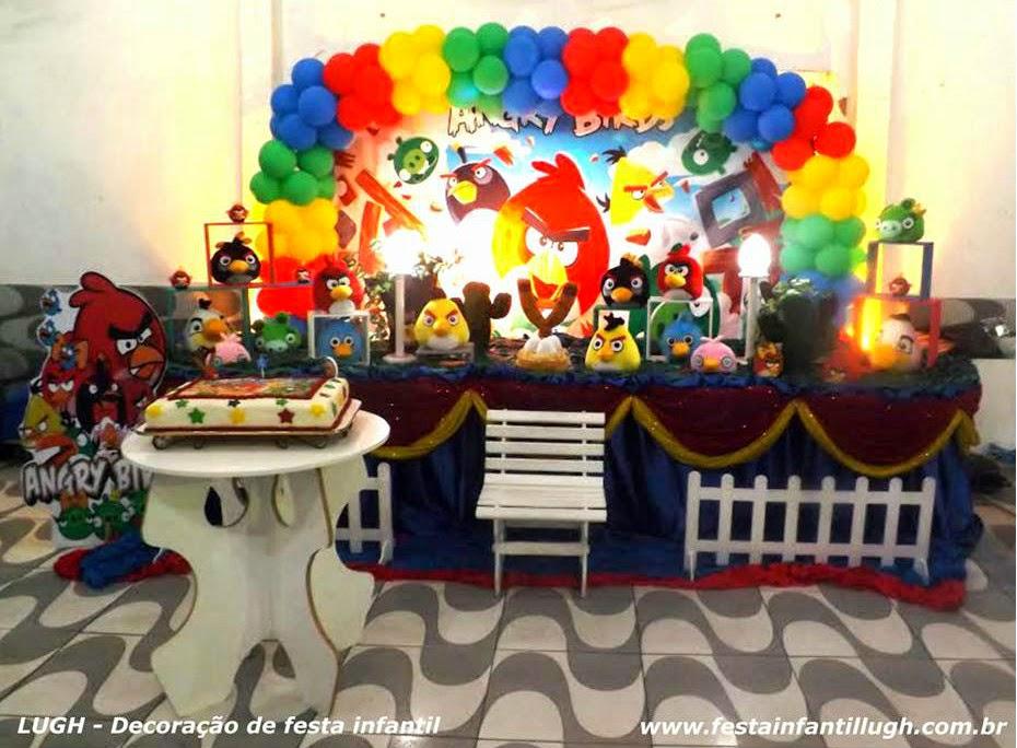 Tema Angry Birds para decoração de festa infantil