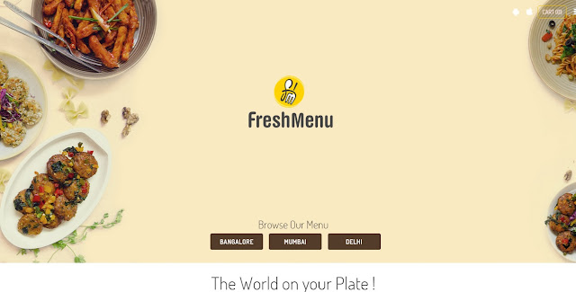 Fresh Menu Food Delivery StartUp