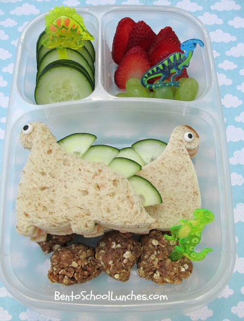 Dinosaurs bento, no bake energy bites recipe