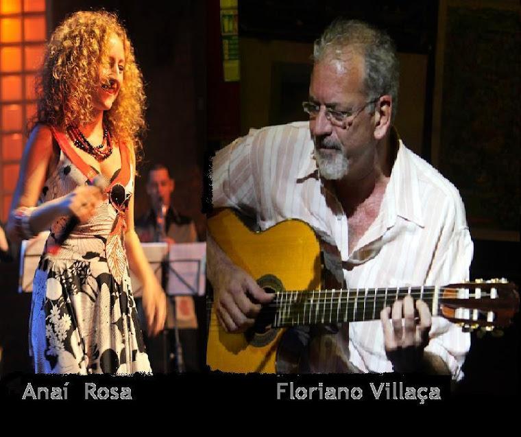 Anái Rosa e Floriano Villaça no D'artur