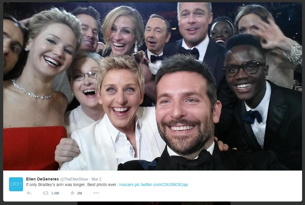 twitter Oscar ceremony tweet picture