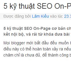 Hiện mô tả tìm kiếm tại đầu bài viết cho Blogger