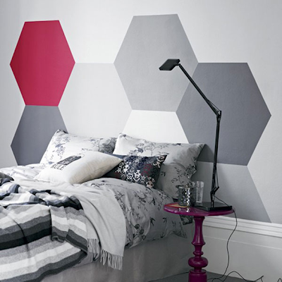 cabecero cama pintado