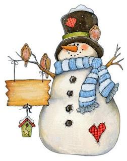 Imagens para decoupage  de natal - bonecos de neve