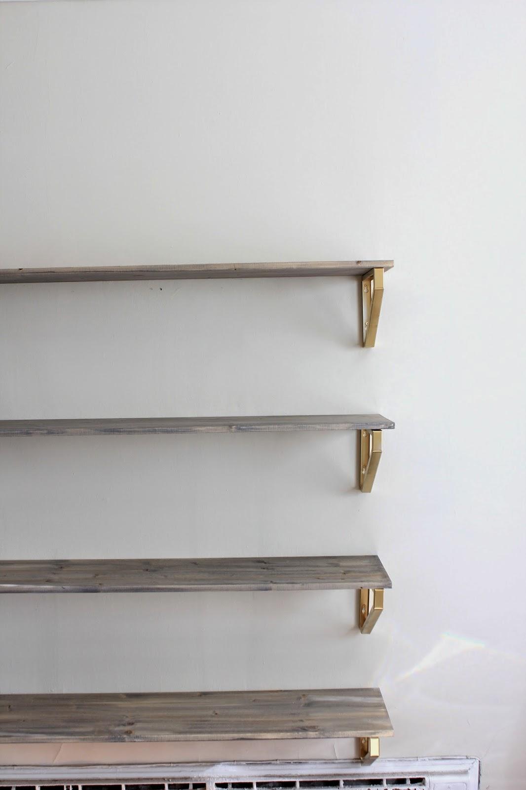 Cup Half Full Rustic Wood Shelf DIY