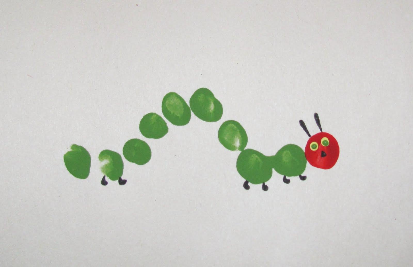 Itmom Very Hungry Caterpillar Fingerprint Craft