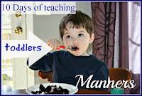 10 days of toddler manners