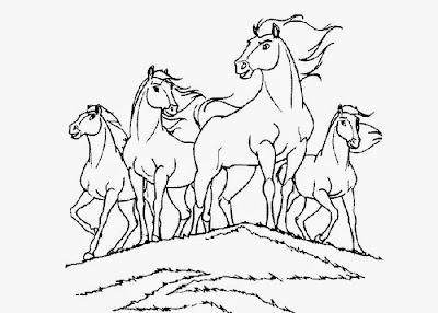 Spirit Horse Coloring Pages
