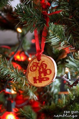 diy wood & glitter ornaments