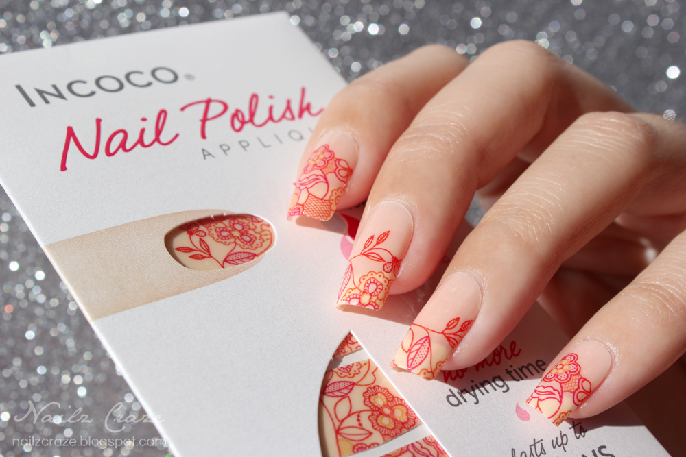 Incoco Nail Polish Strips in A Floral Affair - Review - Nailz Craze