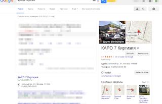 Карточка организации в Google