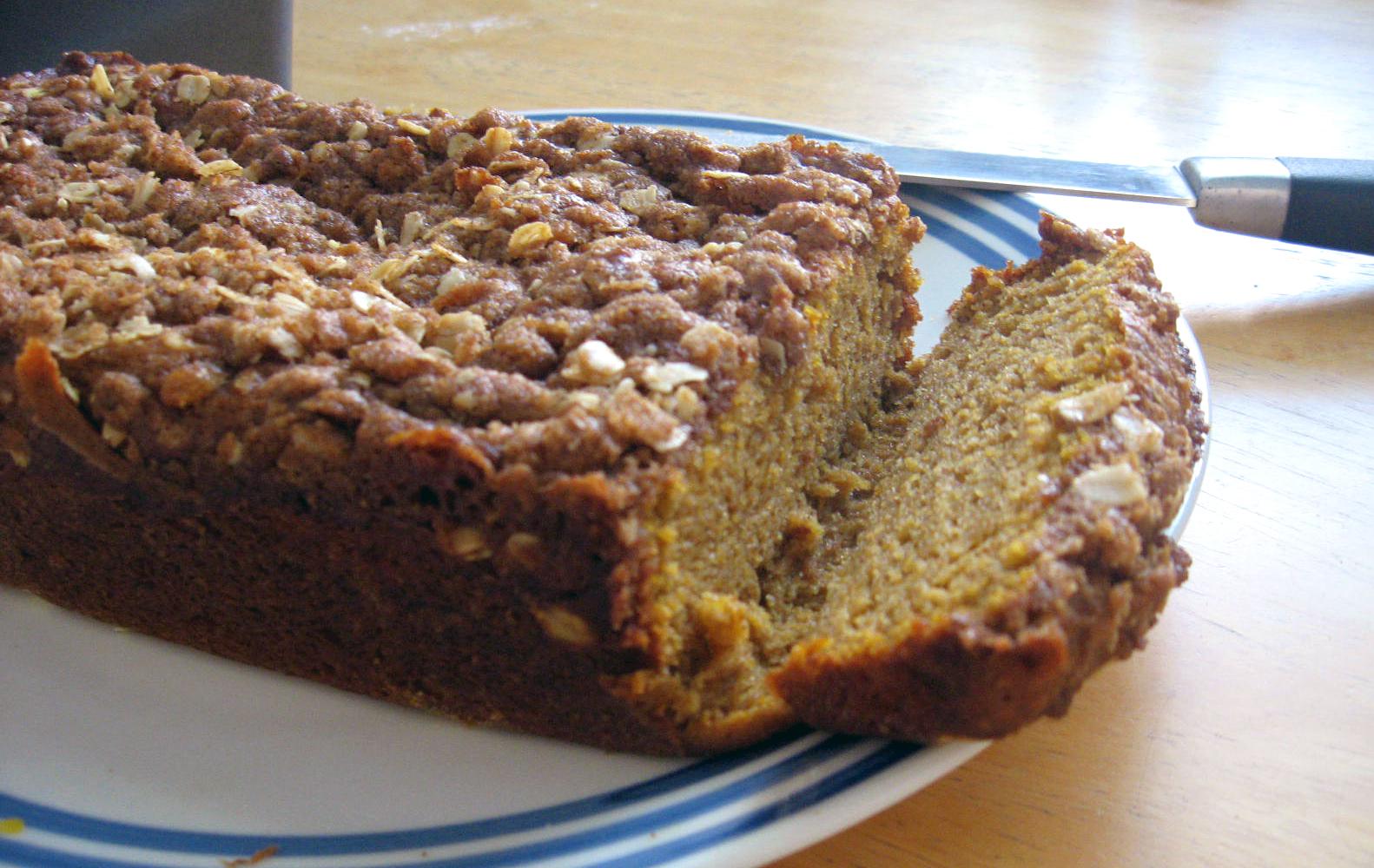 Streusel Topped Pumpkin Bread by freshfromthe.com