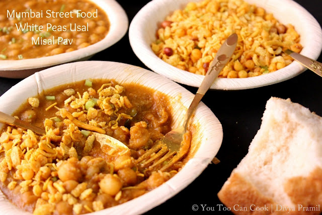 Misal Pav (SNC 3) | Mumbai Street Food | White Peas Usal
