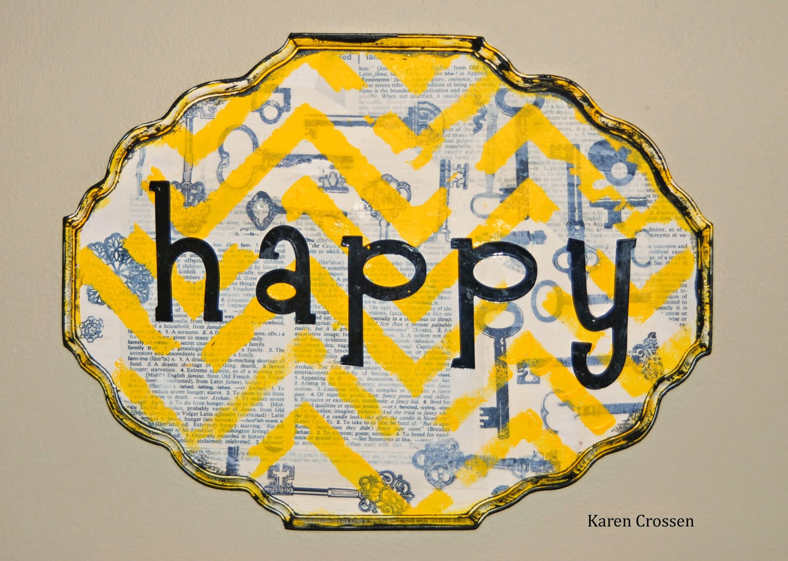 Eclectic Paperie: Using Mixed Media in Home Decor!