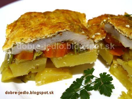 Pangassius v zeleninovo-smotanovej perinke - recepty