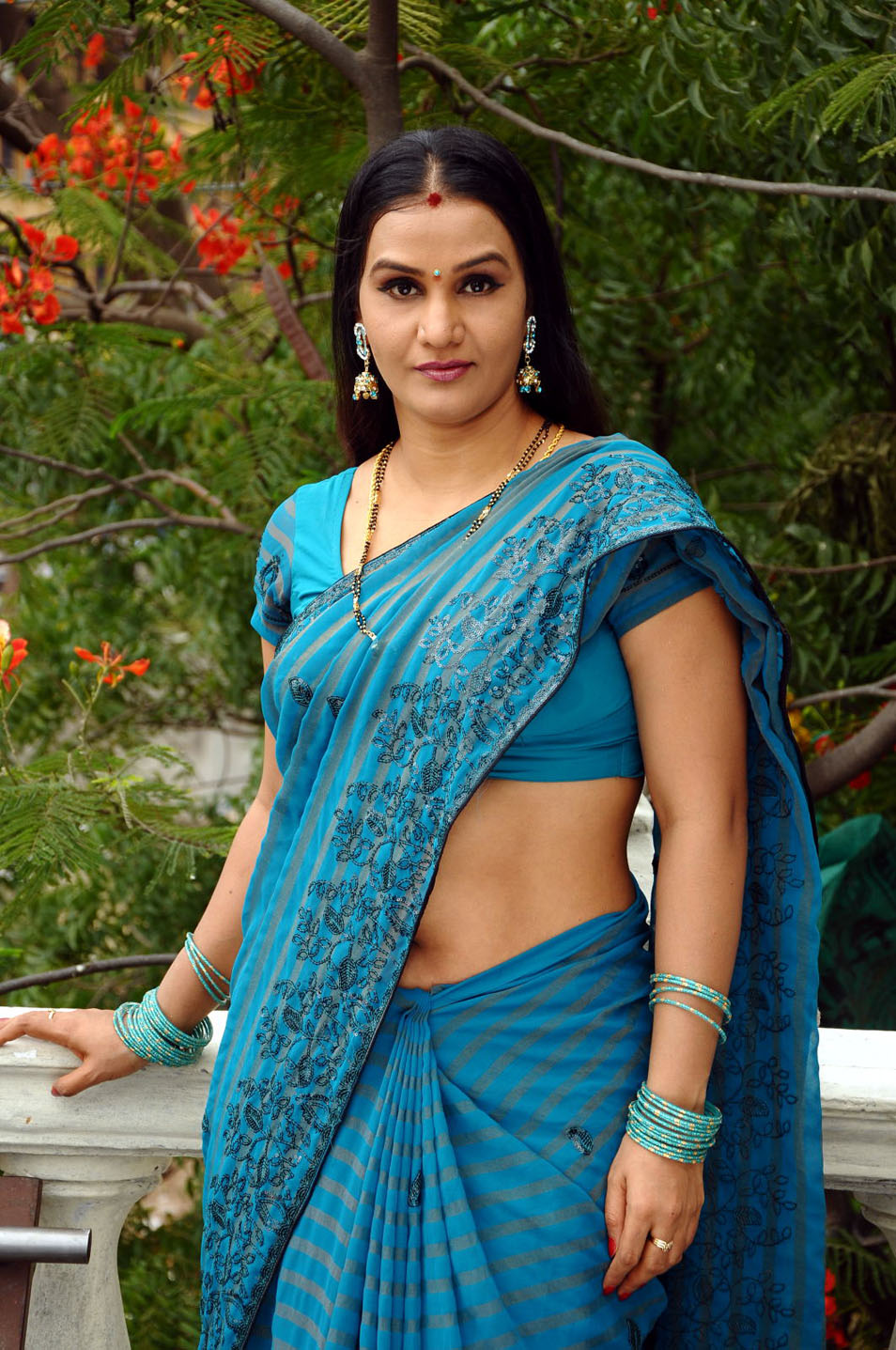 indian aunty actress wear saree below navel photos