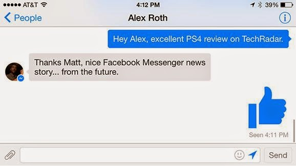 Screenshot of Message Thread in Facebook Messenger