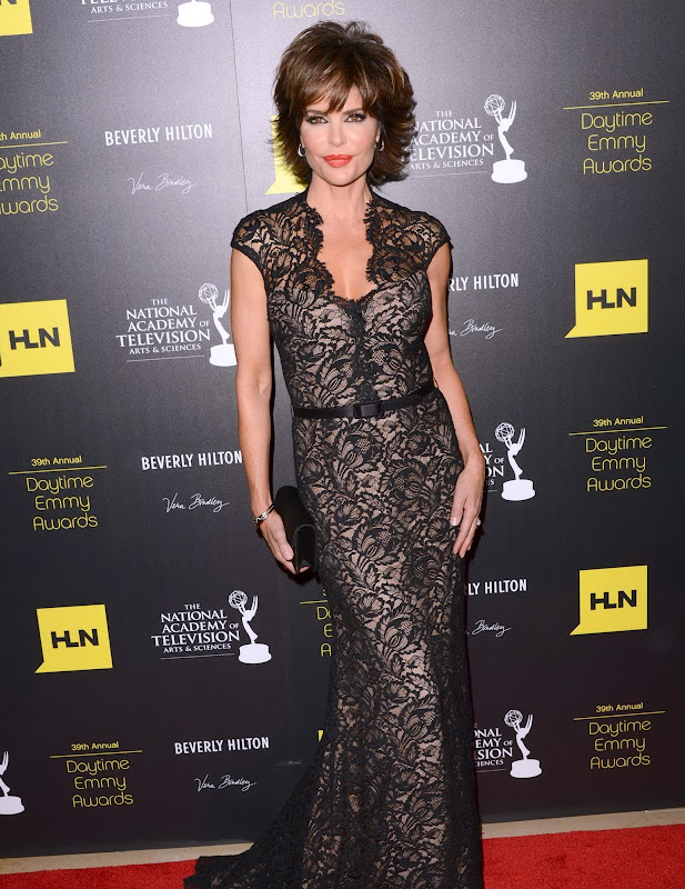 Lisa Rinan on the red carpet at Annual Daytime Emmy Awards 2012
