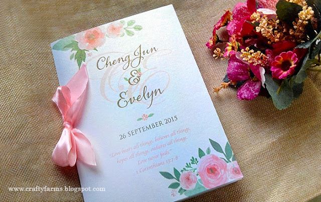 Watercolour Flower Church Ceremony Booklet
