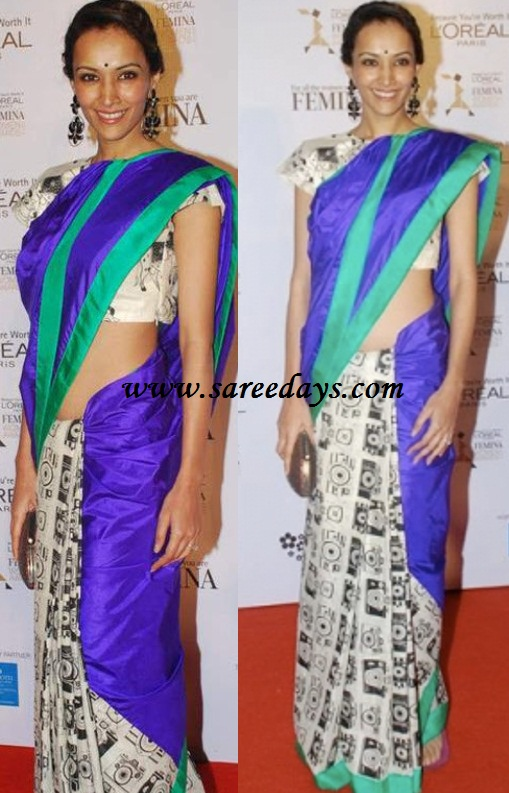 Latest Saree Designs: dipannita sharma in masaba saree