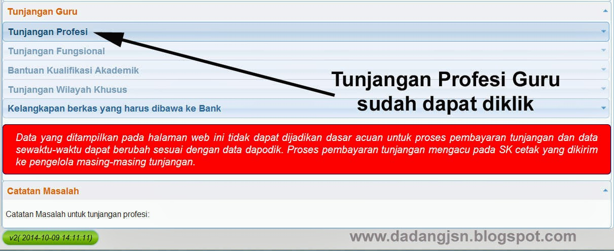 Cek SK Tunjangan Profesi / Sertifikasi Guru Semester 1 Tahun 2014-2015 ...