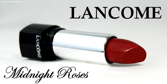 Lancome Fall 2012 Midnight Roses: L'Absolu Nu Replenishing and Enhancing Lipcolor in 313 Rouge Resille Review and Swatches
