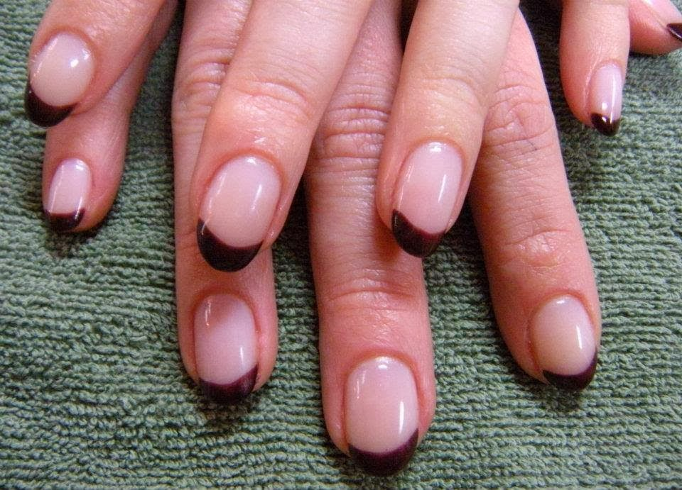 Acrylic extension with Gel-color French Manicure in a custom mix ...