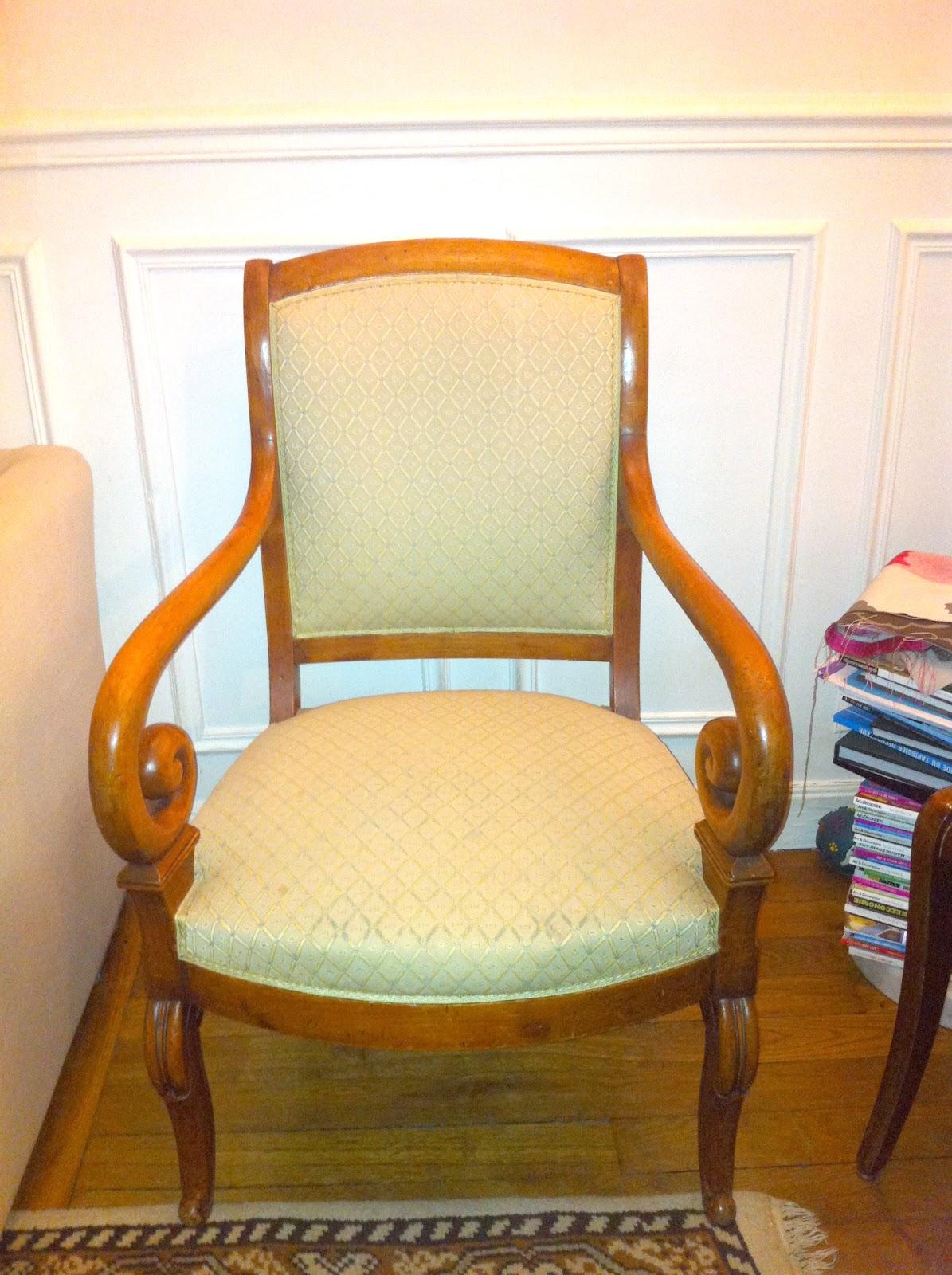 Fauteuil restauration crosse - Cours de restauration de fauteuil ...