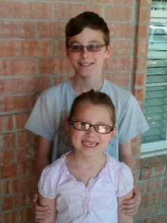 Image: The kids' new glasses